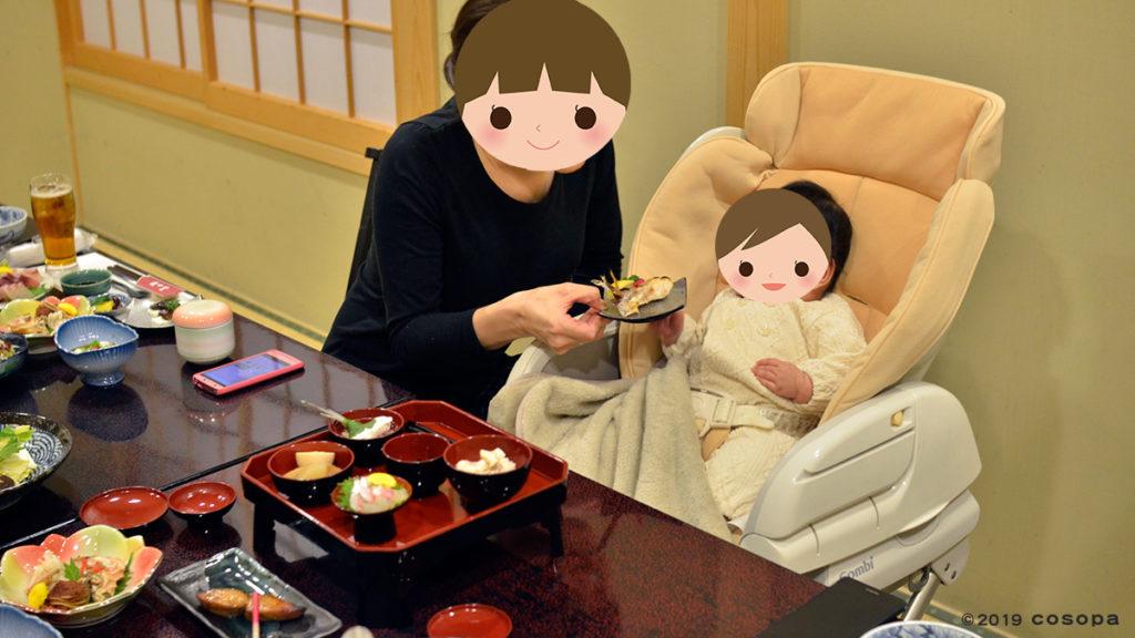 長女の時は撮影とお食い初めを同じ日にして大変でした。結局食事の時には着物は脱ぎました。