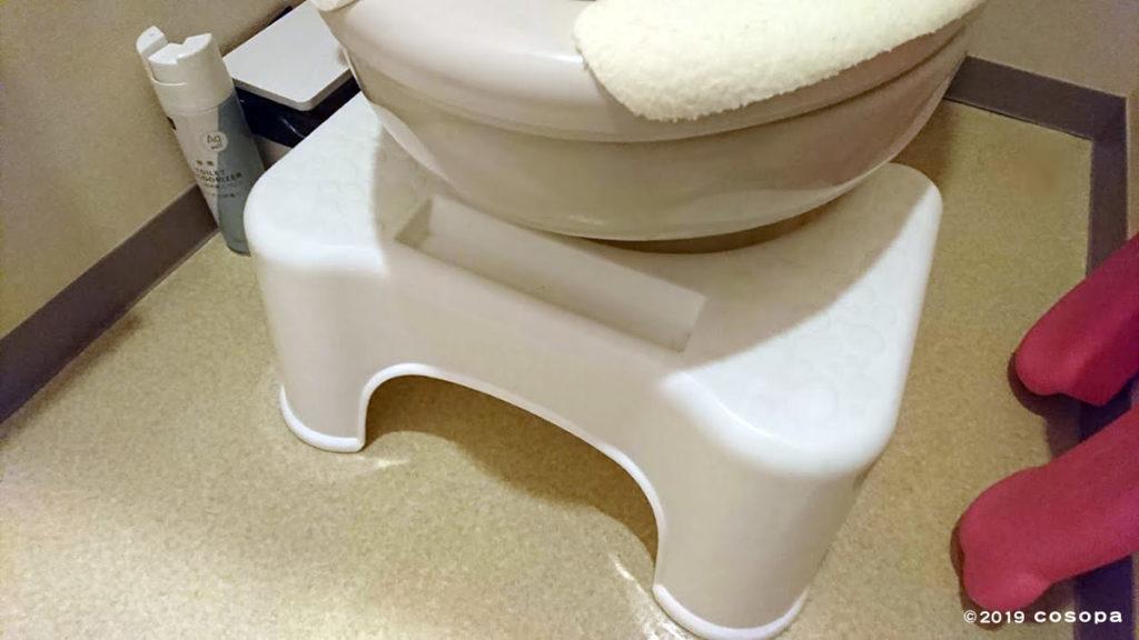 こういう感じで洋式トイレの下に収納できるのが場所を取らずオススメ